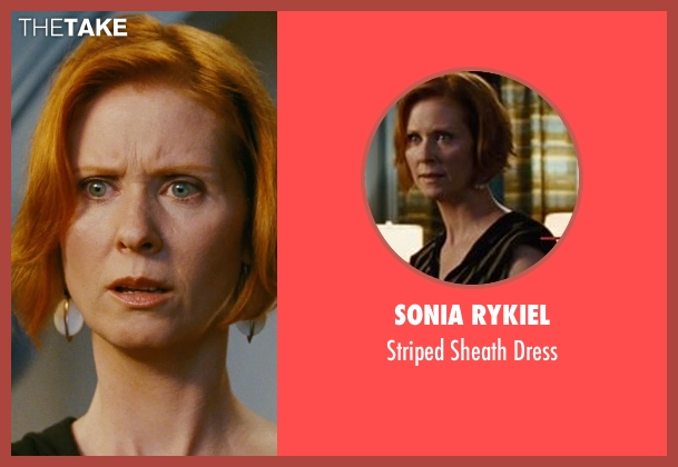 Sonia Rykiel black dress from Sex and the City seen with Cynthia Nixon (Miranda Hobbes)