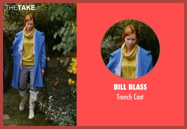 Bill Blass blue coat from Sex and the City seen with Cynthia Nixon (Miranda Hobbes)