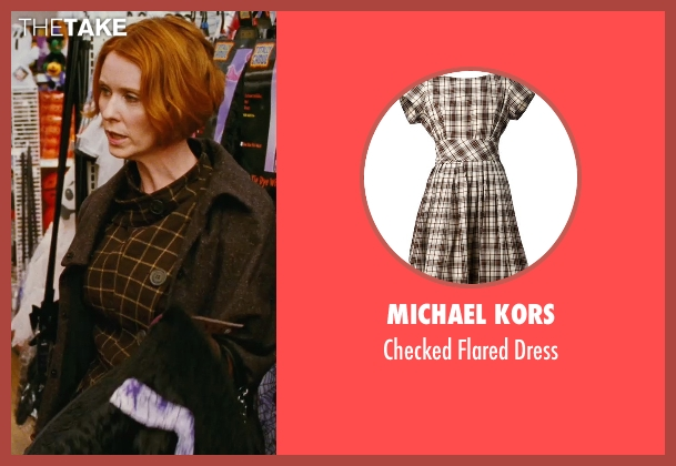Michael Kors brown dress from Sex and the City seen with Cynthia Nixon (Miranda Hobbes)
