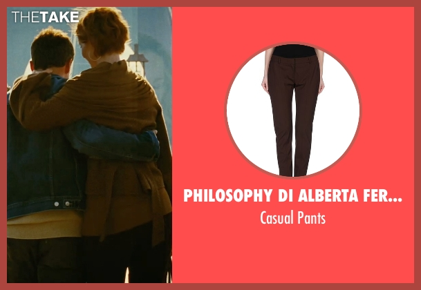 Philosophy Di Alberta Ferretti brown pants from Sex and the City seen with Cynthia Nixon (Miranda Hobbes)