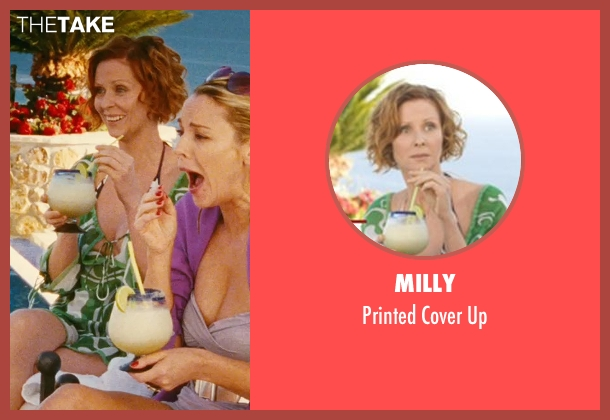 Milly green up from Sex and the City seen with Cynthia Nixon (Miranda Hobbes)