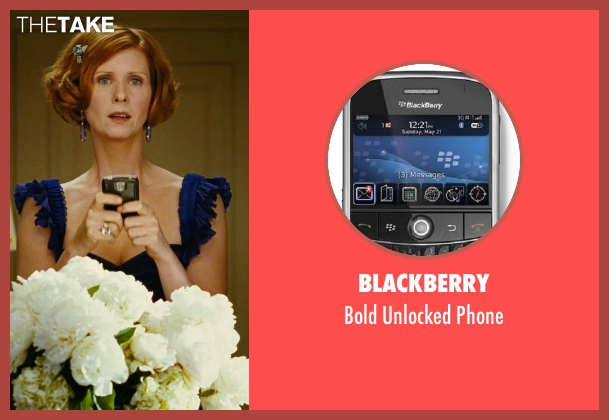 Blackberry phone from Sex and the City seen with Cynthia Nixon (Miranda Hobbes)