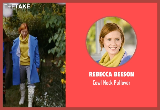 Rebecca Beeson yellow pullover from Sex and the City seen with Cynthia Nixon (Miranda Hobbes)