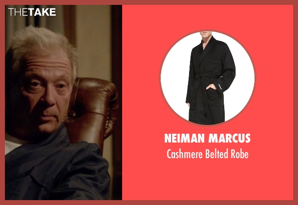 Neiman Marcus black robe from Scandal seen with Cyrus Beene (Jeff Perry)