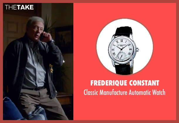 Frederique Constant black watch from Scandal seen with Cyrus Beene (Jeff Perry)