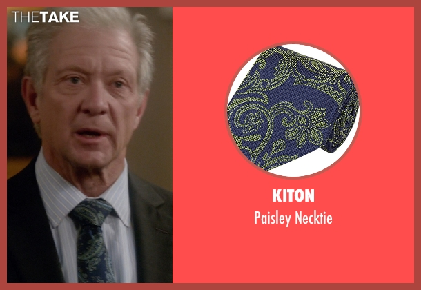 Kiton blue necktie from Scandal seen with Cyrus Beene (Jeff Perry)