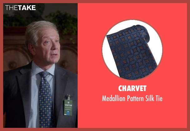 Charvet blue tie from Scandal seen with Cyrus Beene (Jeff Perry)