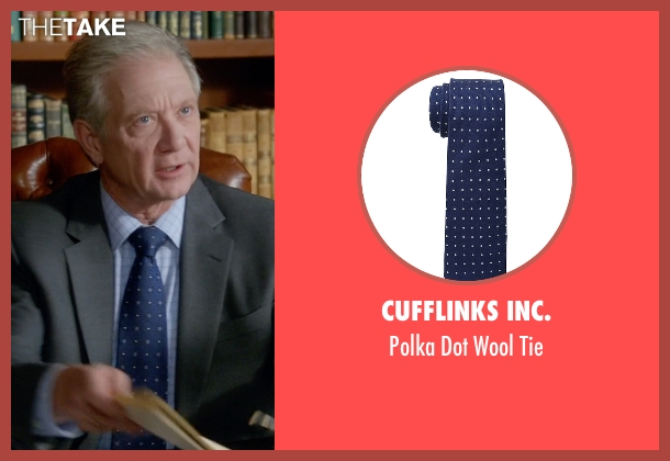 Cufflinks Inc. blue tie from Scandal seen with Cyrus Beene (Jeff Perry)