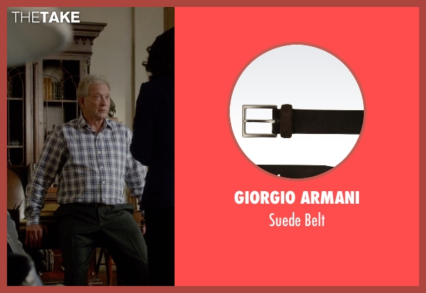 Giorgio Armani brown belt from Scandal seen with Cyrus Beene (Jeff Perry)