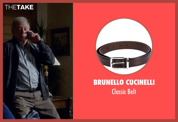 Brunello Cucinelli brown belt from Scandal seen with Cyrus Beene (Jeff Perry)
