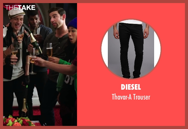 Diesel black trouser from Step Up: All In seen with Cyrus Spencer (Gauge)