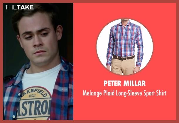 Peter Millar  blue shirt from Power Rangers seen with Dacre Montgomery (Jason Lee Scott / Red Ranger)