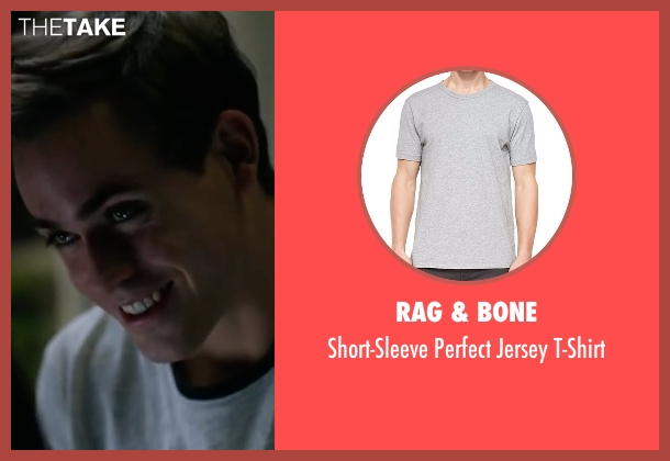 Rag & Bone gray t-shirt from Power Rangers seen with Dacre Montgomery (Jason Lee Scott / Red Ranger)