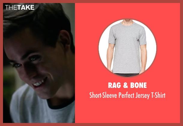 Rag & Bone gray t-shirt from Power Rangers seen with Dacre Montgomery (Jason Lee Scott / Red Ranger)