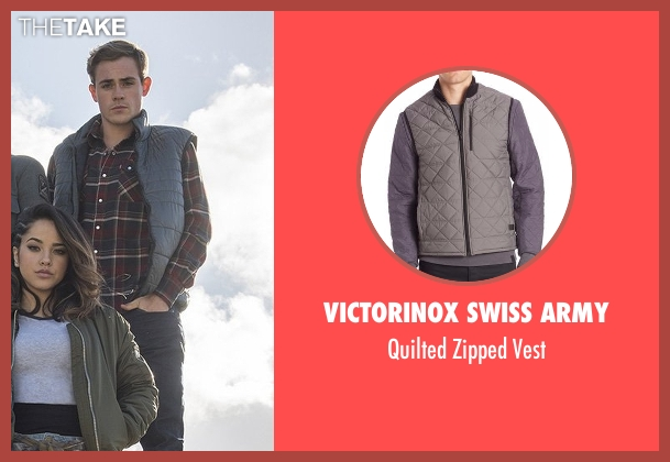 Victorinox Swiss Army gray vest from Power Rangers seen with Dacre Montgomery (Jason Lee Scott / Red Ranger)