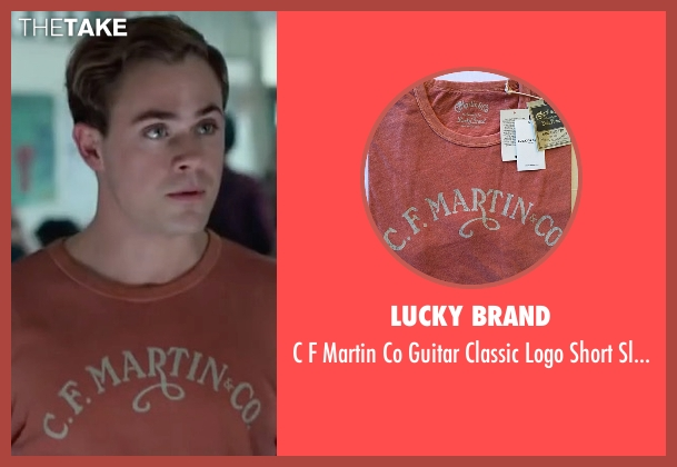 Lucky Brand orange shirt from Power Rangers seen with Dacre Montgomery (Jason Lee Scott / Red Ranger)