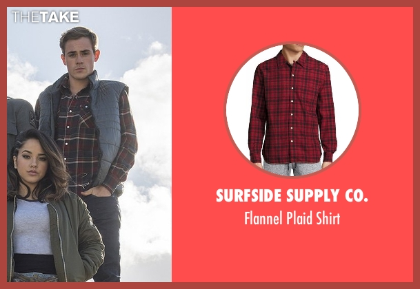 Surfside Supply Co. red shirt from Power Rangers seen with Dacre Montgomery (Jason Lee Scott / Red Ranger)