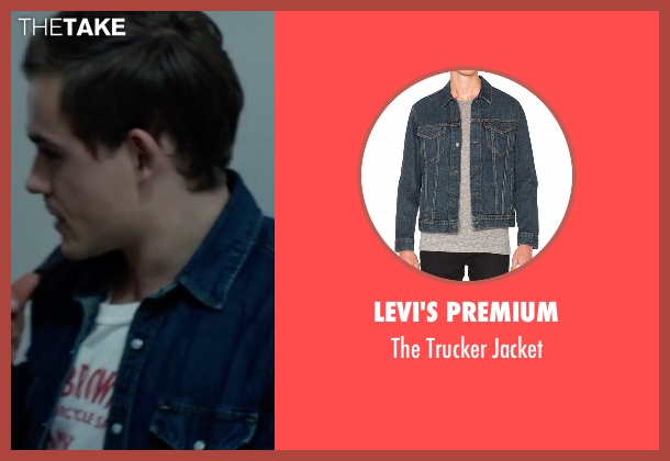 Levi's Premium blue jacket from Power Rangers seen with Dacre Montgomery (Jason Lee Scott / Red Ranger)