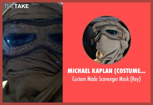 Michael Kaplan (Costume Designer) mask from Star Wars: The Force Awakens seen with Daisy Ridley (Rey)