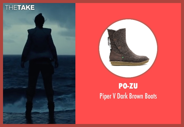 Po-Zu brown boots from Star Wars: The Last Jedi seen with Daisy Ridley (Rey)