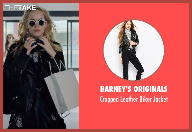 Barney's Originals black jacket from A Bigger Splash seen with Dakota Johnson (Penelope Lanier)