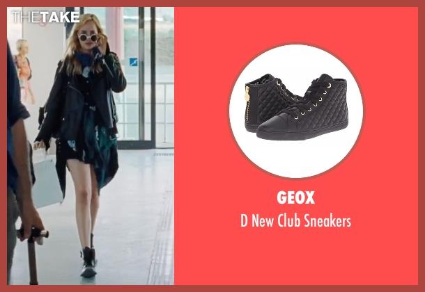 Geox black sneakers from A Bigger Splash seen with Dakota Johnson (Penelope Lanier)