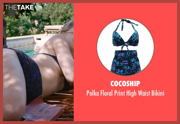 Cocoship blue bikini from A Bigger Splash seen with Dakota Johnson (Penelope Lanier)