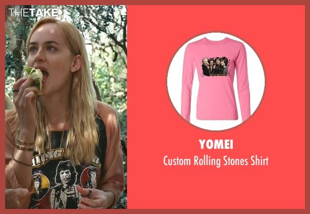 Yomei pink shirt from A Bigger Splash seen with Dakota Johnson (Penelope Lanier)