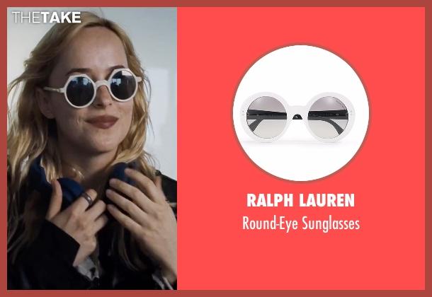 Ralph Lauren white sunglasses from A Bigger Splash seen with Dakota Johnson (Penelope Lanier)