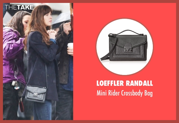 Loeffler Randall black bag from Fifty Shades Darker seen with Dakota Johnson (Anastasia Steele)