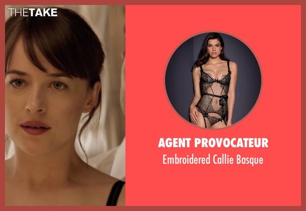 Agent Provocateur black basque from Fifty Shades Darker seen with Dakota Johnson (Anastasia Steele)