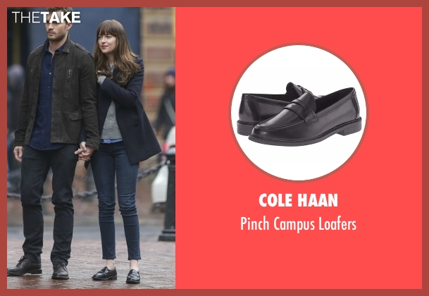 Cole Haan black loafers from Fifty Shades Darker seen with Dakota Johnson (Anastasia Steele)