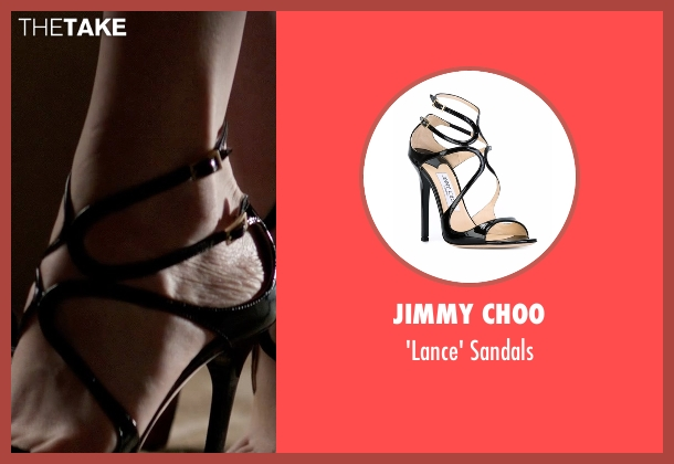 Jimmy Choo black sandals from Fifty Shades Darker seen with Dakota Johnson (Anastasia Steele)