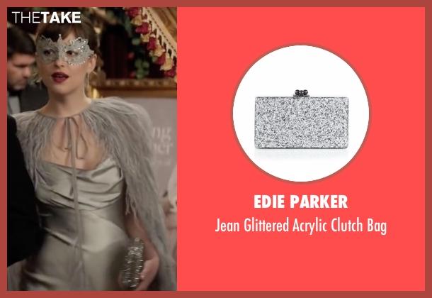 Edie Parker silver bag from Fifty Shades Darker seen with Dakota Johnson (Anastasia Steele)