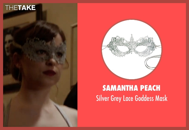 Samantha Peach mask from Fifty Shades Darker seen with Dakota Johnson (Anastasia Steele)