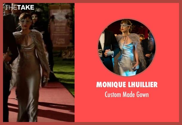 Monique Lhuillier silver gown from Fifty Shades Darker seen with Dakota Johnson (Anastasia Steele)