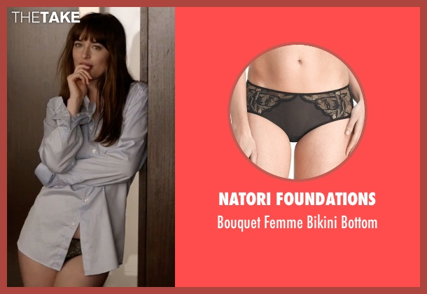 Natori Foundations black bottom from Fifty Shades Darker seen with Dakota Johnson (Anastasia Steele)