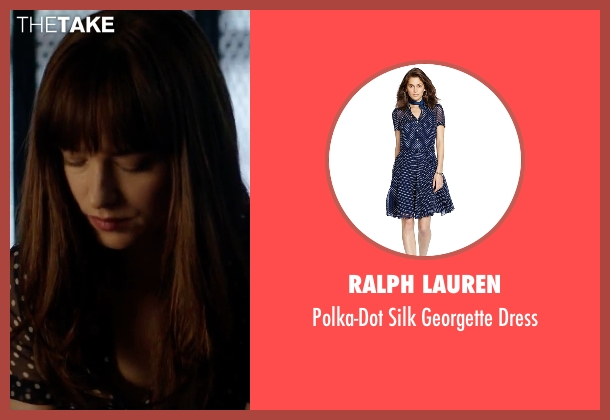 Ralph Lauren blue dress from Fifty Shades Darker seen with Dakota Johnson (Anastasia Steele)