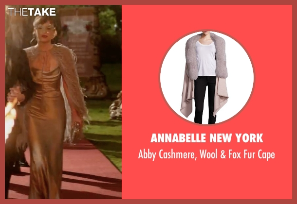 Annabelle New York gray cape from Fifty Shades Darker seen with Dakota Johnson (Anastasia Steele)