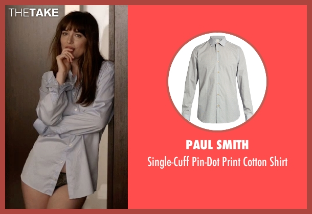 Paul Smith gray shirt from Fifty Shades Darker seen with Dakota Johnson (Anastasia Steele)