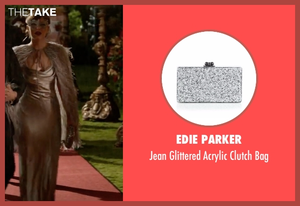 Edie Parker silver bag from Fifty Shades Darker seen with Dakota Johnson (Anastasia Steele)