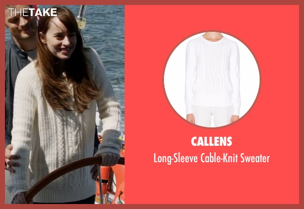 Callens white sweater from Fifty Shades Darker seen with Dakota Johnson (Anastasia Steele)