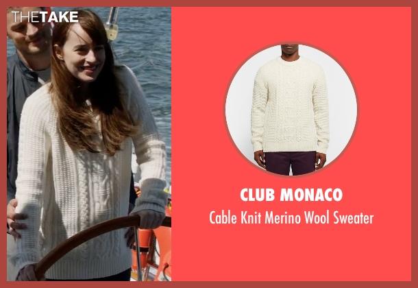 Club Monaco white sweater from Fifty Shades Darker seen with Dakota Johnson (Anastasia Steele)
