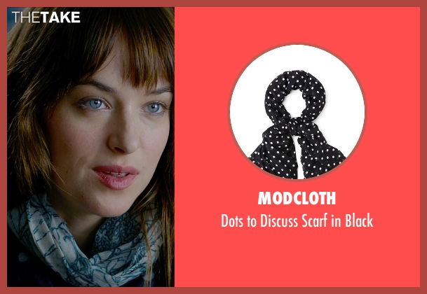 ModCloth blue black from Fifty Shades of Grey seen with Dakota Johnson (Anastasia Steele)