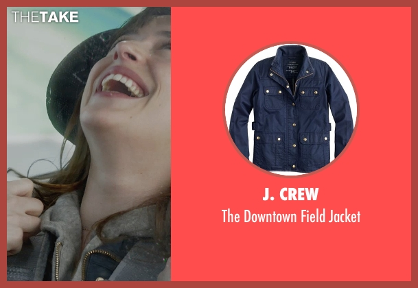 J. Crew blue jacket from Fifty Shades of Grey seen with Dakota Johnson (Anastasia Steele)