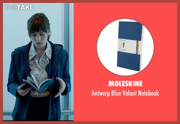 Moleskine blue notebook from Fifty Shades of Grey seen with Dakota Johnson (Anastasia Steele)