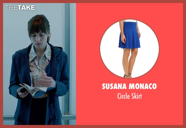 Susana Monaco blue skirt from Fifty Shades of Grey seen with Dakota Johnson (Anastasia Steele)