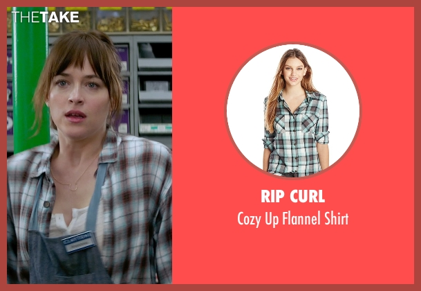 Rip Curl brown shirt from Fifty Shades of Grey seen with Dakota Johnson (Anastasia Steele)