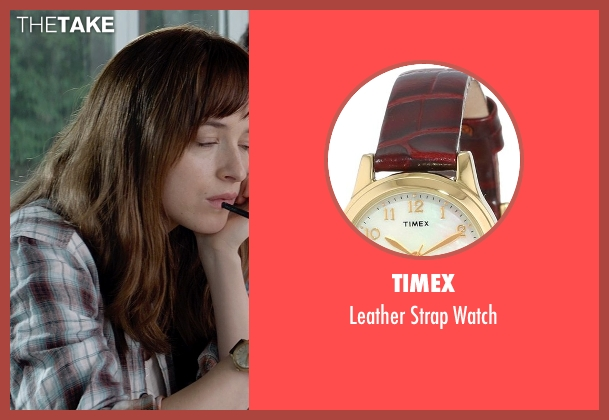 Timex brown watch from Fifty Shades of Grey seen with Dakota Johnson (Anastasia Steele)