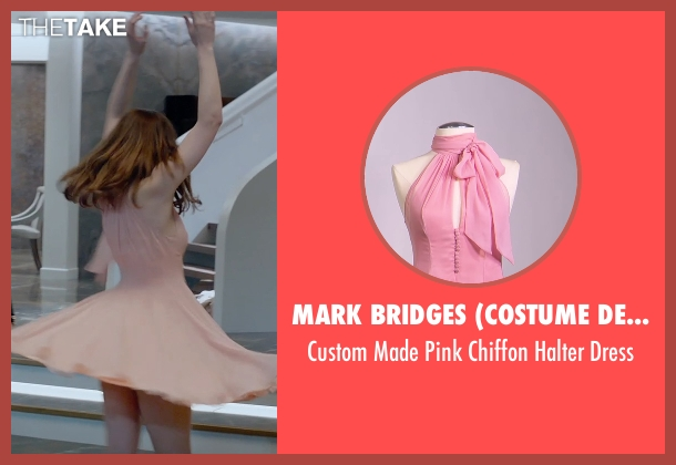 Mark Bridges (Costume Designer) pink dress from Fifty Shades of Grey seen with Dakota Johnson (Anastasia Steele)